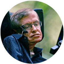 (Picture of Hawking)